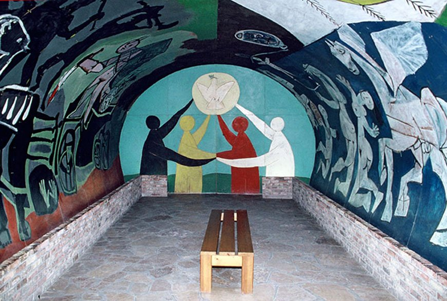 Villauris - La guerra e la pace, affresco della cappella del Musée national Pablo Picasso