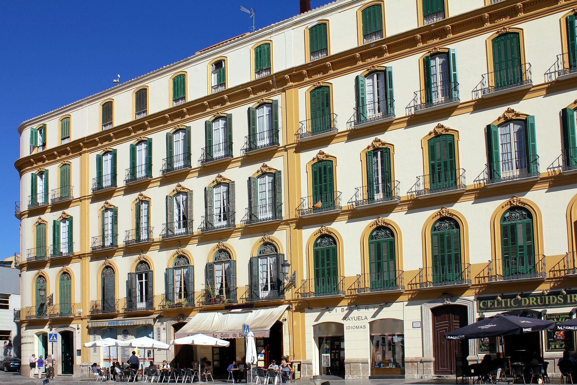 Malaga, Plaza de la Merced, casa natale di Pablo Picasso.