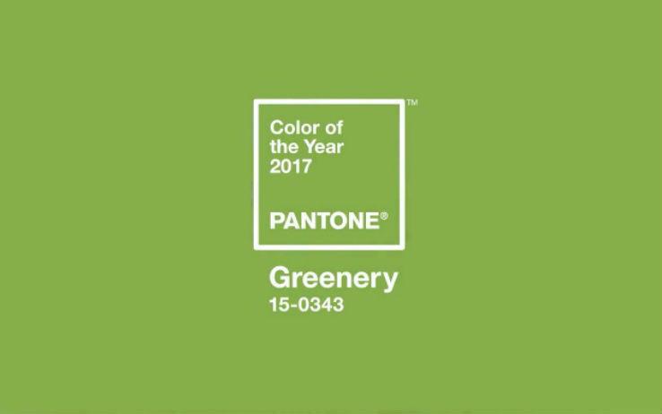 11.E' il colore dell'anno. Tonalità rivitalizzante e autentica ventata di freschezza, Greenery è il simbolo di nuovi impulsi.